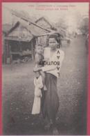 ASIE--INDOCHINE---CAMBODGE--KOMPONG-CHAM---Femme Portant Son Enfant - Cambodge