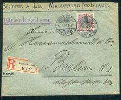 Deutsches Reich / 1904 / Mi. 75 EF A. Reco-Brief Ex Magdeburg-Neustadt (7370) - Deutschland