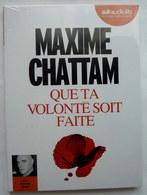 LIVRE AUDIO 1 CD AUDIOLIB QUE TA VOLONTE SOIT FAITE - Maxime CHATTAM Neuf Sous Film - Musique & Instruments