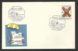 Angola Cachet Commémoratif Salon Aéronautique Parachutisme Disney Donald 1970  Event Postmark Air Festival Parachuting - Disney