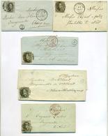 Belgique Lot De 5 Plis De St Nicolas St-Niklaas Avec Boite Identifiée 1855-1861 - 1849 Epaulettes