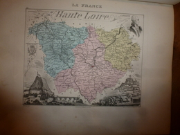1880:HTE-LOIRE(Le Puy,Brioude,Yssingeaux,Loudes,Vorey,Tence,Auzon,etc) Carte Géo-Descriptive En Taille Douce Par Migeon. - Geographische Kaarten