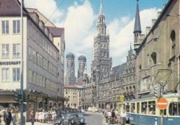 Tram/Strassenbahn München,Marienplatz Mit Rathaus Und Frauenkirche, Ungelaufen - Tramways