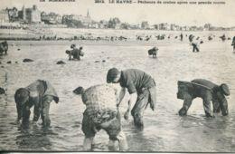 N°70121 -cpa Le Havre -pêcheurs De Crabes Après Une Grande Marée- - Le Havre
