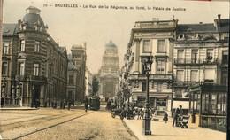 Bruxelles : Rue De La Régence Et Palais De Justice  Et Avenue Du Midi // Les 2 Cartes - Lanen, Boulevards