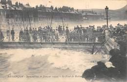 Besançon         25          Inondations 1910. Le Pont De Battant    (Voir Scan) - Besancon