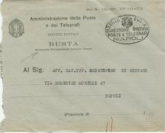 REGIE POSTE-NAPOLI-1940 -SERVIZIO POSTALE- BUSTA CONTENENTE CORRISPONDENZA ORDINARIA TASSATA-MOD.94,EDIZ.1938,RR - Posta