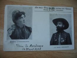 Cirque  Artiste Miarka L Andorranne Et Prince Ordonoff - Cirque