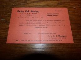 BC3-2-1 Entier Postal Convocation Football 1950 Racling Club Montignies Sur Sambre Montigny Contre Goutroux - Soccer