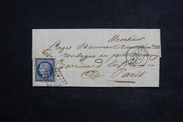 FRANCE - Lettre De Agen Pour Paris En 1851 , Affranchissement Cérès De La 1 ère émission , Oblitération Grille - L 23076 - Marcophilie (Lettres)