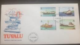 O) 1978 TUVALU. SHIPS -PACIFIC EXPLORER- LAWEDUA-TUGA WALLACIA-FREIGHTER CENPAC ROUNDER-FDC XF - Tuvalu