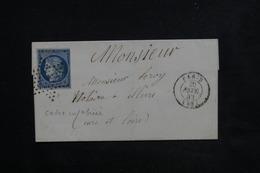 FRANCE - Lettre De Paris Pour Illiers En 1852, Oblitération étoile Sur Cérès ( Variété Filet Brisé En Bas ) - L 23078 - Marcophilie (Lettres)