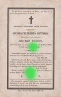 ZELE 1859 BONTINCK QUESTROEY - Décès