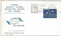 MADRID FDC SPD ASAMBLEA ORGANIZACION MUNDIAL DEL TURISMO - Vacaciones & Turismo
