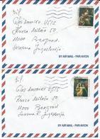 Denmark 2 PAR AVION Letters.via Yugoslavia.Motive Stamps : 1997 The 600th Anniversary Of The Kalmar Union. - Danimarca