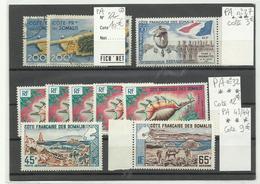 CF Somalis, Lot Timbres Neufs & Obl. De Poste Aérienne, Cote: 92€ - Nuevos