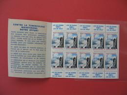 1967 Vignette - Carnet Complet Contre La Tuberculose (10)   Neuf **  37 ème Campagne Nationale - Antituberculeux