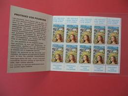 1971 - 1972  Vignette - Carnet Complet Contre La Tuberculose (10)   Neuf **  41 ème Campagne Nationale - Antituberculeux