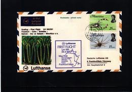 Mauritius 1970 Lufthansa First Flight Mauritius - Frankfurt - Mauritius (1968-...)