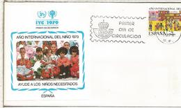 MADRID FDC SPD AÑO INTERNACIONAL DEL NIÑO CHILDREN YEAR - Enfance & Jeunesse