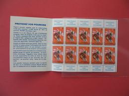 1972 - 1973  Vignette - Carnet Complet Contre La Tuberculose (10)   Neuf **  42 ème Campagne Nationale - Antituberculeux