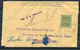 1912 British Guiana 1c Stationery Wrapper, Wieting & Richter Ltd - Hamburg Germany - British Guiana (...-1966)