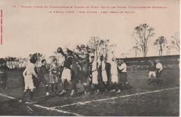 Grande Finale Du Championat De France De Rugby Entre Les Stades Touloulains Et Bordelais Le 4 Avril 1909 - Rugby