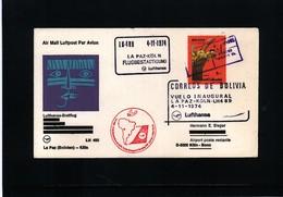 Bolivia 1974 Lufthansa First Flight La Paz - Koeln - Bolivien