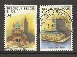 Belgique 2001 - Emission Commune Avec Le Maroc - Série Complète - 3002/3 - Mosquée Hassan II - Basilique Koekelberg - Oblitérés