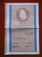 RENTE QUATRE CENT POUR CENT 1941 1960 AMORTISSABLE - Actions & Titres