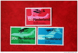 Luchtvaart AEROPLANES, FLUGZEUGEN, VLIEGTUIGEN NVPH 909-911 (Mi 902-904); 1968 POSTFRIS / MNH ** NEDERLAND / NIEDERLANDE - 1949-1980 (Juliana)