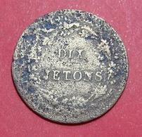 FRANCE 10 Jetons 1800-1900, Bronze, 22.5 Mm. - Monétaires / De Nécessité