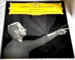 Lp - Ludwig Van Beethoven, Sinfonía No.5, Karajan - DEUTSCHE GRAMMOPHON 1976 - Clásica