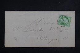 FRANCE - Affranchissement 5ct Napoléon Sur Document D 'Angers Pour Angers En 1865 - L 23087 - Marcophilie (Lettres)