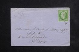 FRANCE - Affranchissement 5ct Napoléon Non Dentelé Sur Enveloppe De Paris Pour Paris , Oblitération étoile - L 23088 - Marcophilie (Lettres)