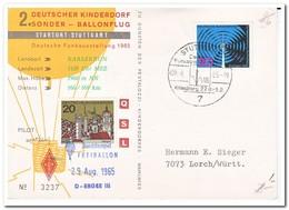 Duitsland 1965, Ballonflug, Abst. Stuttgart Deutsche Funkausstellung, Killesberg 27.8.-5.9. - Brieven En Documenten