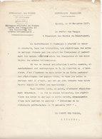 Préfet Des Vosges ,mariage Entre Françaises Et Militaires Anglais ,1917 - Documents
