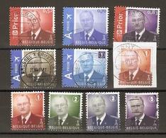 Belgique - Albert II, MVTM  Uniforme Militaire  - Petit Lot De 10 - 9 Timbres° + 1 Fragment D'Entier Postal - 1993-.. MVTM