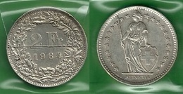 SVIZZERA 1964 - Helvetia - 2 Fr / CHF - SPL / FDC - Argento / Argent / Silver - Confezione In Bustina - Svizzera