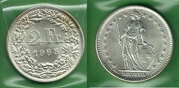 SVIZZERA 1965 - Helvetia - 2 Fr / CHF - SPL / FDC - Argento / Argent / Silver - Confezione In Bustina - Svizzera