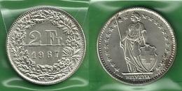 SVIZZERA 1967 - Helvetia - 2 Fr / CHF - SPL / FDC  - Argento / Argent / Silver - Confezione In Bustina - Svizzera