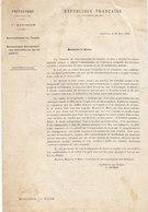 Préfet Des Vosges ,ravitaillement De L'armée,recensement Des Ressources Utilisables En Temps De Guerre ,1896 - Documents