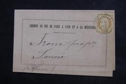 FRANCE - Cérès De Romanèche Sur Document Des Chemins De Fer En 1871 - L 23089 - Marcophilie (Lettres)