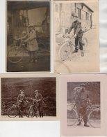 CPA 2473 - Carte Photo & 2 Photos Originales -  Vélo - Cyclistes - Cyclisme