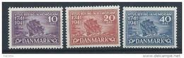 Danemark 1941 N° 278/280 Neufs** MNH Bateau Du Navigateur Vitus Bering - 1913-47 (Christian X)