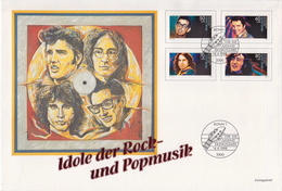 Germany Rock Singers Set On Jumbo FDC - Music