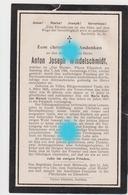 Eilendorf Aachen 1906  Anton Joseph WINDELSCHMIDT - VAN WERSCH - Décès