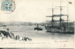 N°70141 -cpa Le Havre -voilier Et Son Remorqueur Rentrant Au Ort- - Le Havre