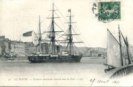 N°70142 -cpa Le Havre -croiseur Américain Entrant Dans Le Port- - Le Havre