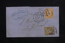 FRANCE - Lettre De Agen Pour Nérac En 1874 , Affranchissement Cérès Bicolore ( 70ct ) - L 23092 - Marcophilie (Lettres)